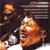 Cd Etta Jones Don t Misunderstand: Live In New York