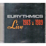 Cd Eurythmics 1983   1989 Live    Cd Duplo
