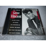 Cd Gene Vincent   The Great 1994 Portugal