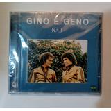 Cd Gino E Geno   N° 1   Lacrado De Fábrica   Raro