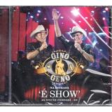 Cd Gino E Geno   Na Estrada É Show