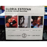 Cd Gloria Estefan & Miami Sound Machine  box Com 3 Cds  Usa