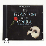 Cd Highlights The Phantom Of The Opera Importado Alemanha