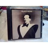 Cd Klaus Nomi   Original Raro Importado Rca 1985