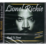 Cd Lionel Richie   Back To Front   Greatest Hits