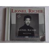 Cd Lionel Richie Back To Front 1992   Original novo lacrado