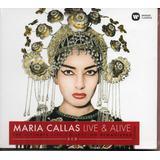 Cd Maria Callas   Live E Alive Cd Duplo