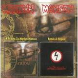 Cd Marilyn Manson   A Tribute To Marilyn  Remix & Repent