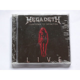 Cd Megadeth   Countdown To Extinction Live Importado Lacrado