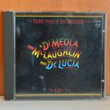 Cd Paco De Lucia   Al Di Meola E John Mc Laughlin Ao Vivo