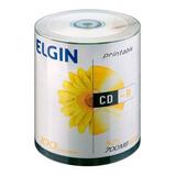Cd Printable Tubo 100un 700mb 80min Vel 52x Branco Imprimir