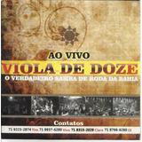 Cd Promo Viola De Doze Ao Vivo Samba D Roda Bahia