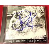 Cd Rage Against The Machine Autografado   Queima Estoque