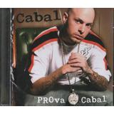 Cd Rapper Cabal Prova Cabal Feat Leilah Moreno 2006 Lacrado