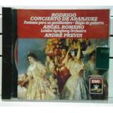 Cd Rodrigo Concierto De Aranjuez Novo Lacrado