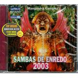 Cd Sambas De Enredo 2003 Rio De Janeiro   Novo Lacrado Raro
