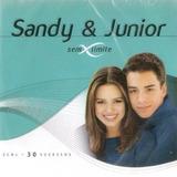 Cd Sandy E Junior   Sem Limite 30 Músicas Box 2 Cds Lacrado