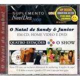 Cd Sandy E Junior Suplemento Promocional   Raro Novo Lacrado