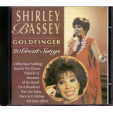 Cd Shirley Bassey   Goldfinger   20 Great Songs