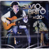 Cd Silvio Brito   As 20   Com 3 Faixas Extras   Novo