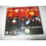 Cd Single Promo Kid Abelha Acústico Mtv   Nada Sei Remixes