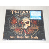 Cd Testament   First Strike Still Deadly  alemão Digipack
