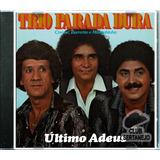 Cd Trio Parada Dura 1981   Último Adeus    Leia O Anúncio