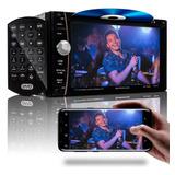 Central Multimidia Mp5 Bluetooth Espelhamento Dvd Cd Usb Fm