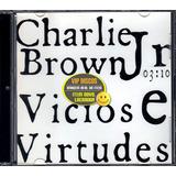 Charlie Brown Jr Cd Single Vicios E Virtudes   Lacrado Raro