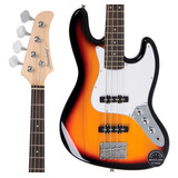 Contra Baixo Jazz Bass Strinberg Jbs40 Sb Regulagem Oferta!