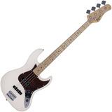 Contra Baixo Jazz Bass Tagima Woodstock Tw73 Branco 4 Cordas