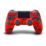 Controle Joystick Sony Dualshock 4 Red Camouflage