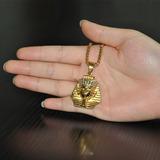 Corrente Feminina Dourada Egito Antigo Pirâmide Joia Cd864