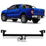 Engate Reboque Rabicho Ford Ranger Cs Cd 2013 A 2017 Cromado