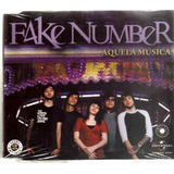 Fake Number   Aquela Música   Cd  Single Promo Novo