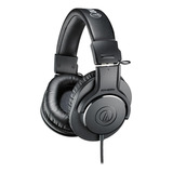 Fone De Ouvido Over-ear Audio-technica M-series Ath-m20x Preto