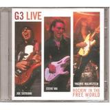 G3 Live Rockin  2 Cd Joe Satriani Steve Vai Yngwie Malmsteen