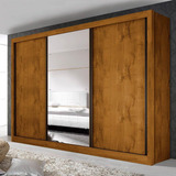 Guarda Roupa Casal Com 3 Espelho 3 Portas Espresso Cd