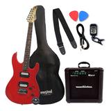 Guitarra Elétrica Stratocaster Waldman Kit Com Amplificador
