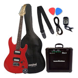 Guitarra Elétrica Stratocaster Waldman Kit Completo Oferta!