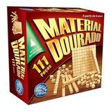 Jogo Didatico Material Dourado Madeira 111 Peças Educativo