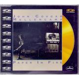 John Cougar Mellencamp 1988 Paper In Fire Cd Maxi Single