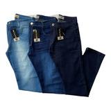 Kit 3 Calça Jeans Masculina Slim Com Lycra Elastano Original