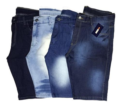 Kit 4 Bermudas Jeans Masculina As Mais Vendidas C/nf-e