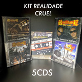 Kit 5cds Realidade Cruel Rap Nacional Original Frete Gratis