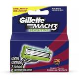 Kit 6 Carga Gillette Mach3 Sensitive  Barcelona 3 Unidade Cd