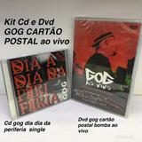 Kit Cd Dvd Gog Cd Single Dia Dia Da Periferia Dvd Cartao Ao