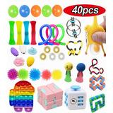 Kit De Brinquedo Sensorial Stress Relief Fidget 40 Pçs