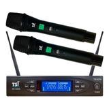 Kit De Microfones Tsi 8299-uhf Dinâmico Supercardióide