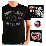 Kit Dope Times Camiseta One By One   Cd   Botom   Adesivo